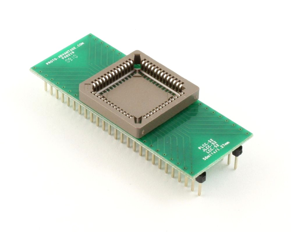 PLCC-52 Socket to DIP-52 Adapter (50 mils / 1.27 mm pitch) 0