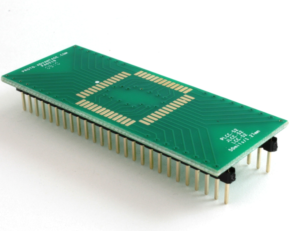 LCC-52 to DIP-52 SMT Adapter (50 mils / 1.27 mm pitch) 0