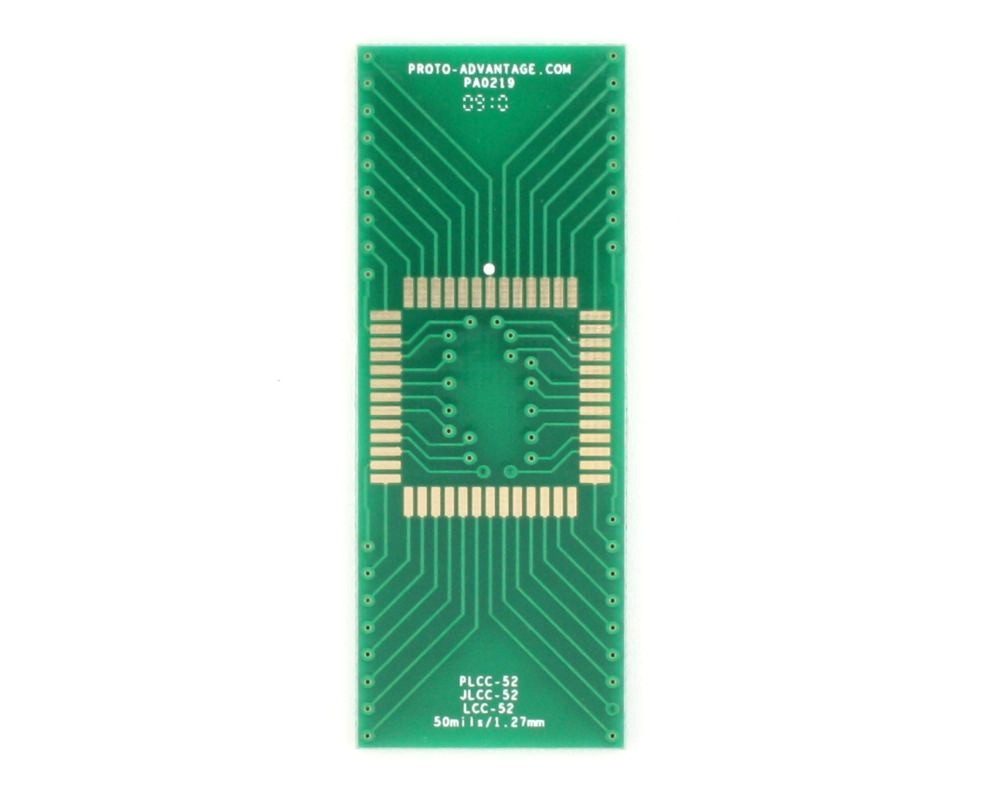 LCC-52 to DIP-52 SMT Adapter (50 mils / 1.27 mm pitch) 2
