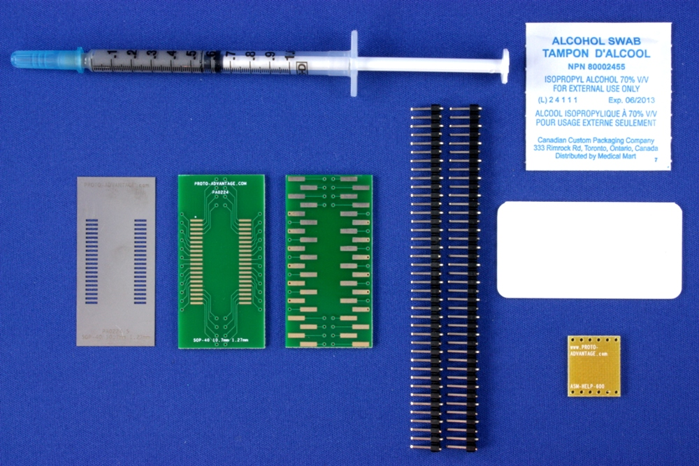 SOP-40 (1.27 mm pitch, 10.7 mm body) PCB and Stencil Kit 0