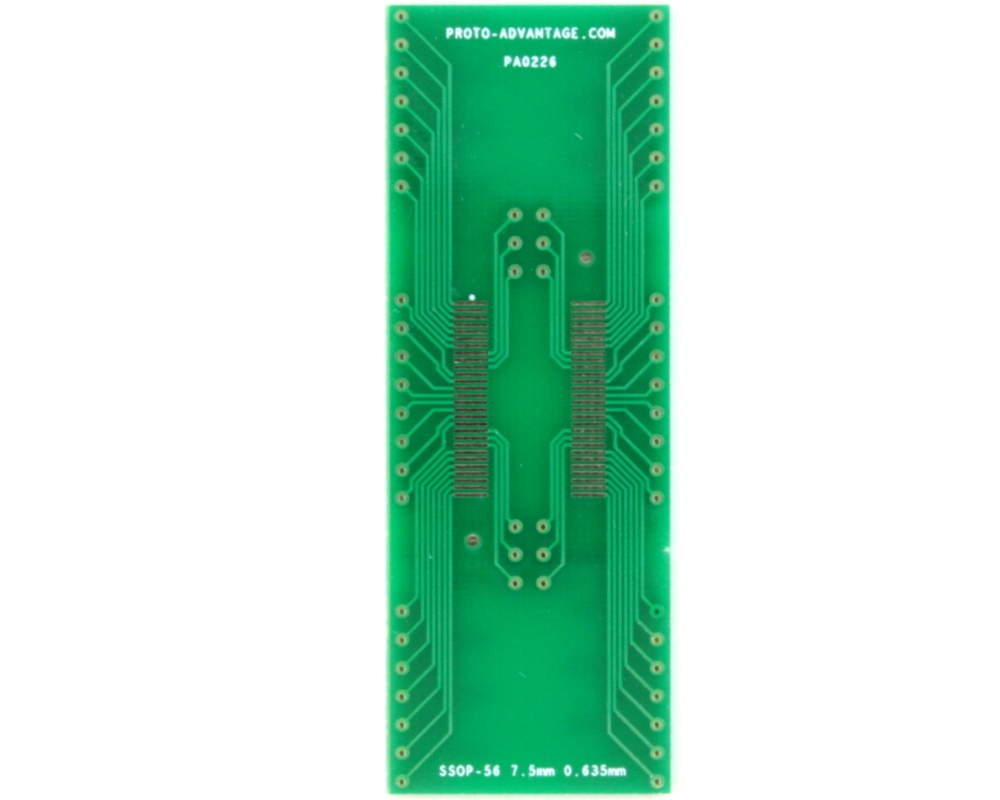 SSOP-56 to DIP-56 SMT Adapter (0.635 mm pitch, 7.5 mm body) 2