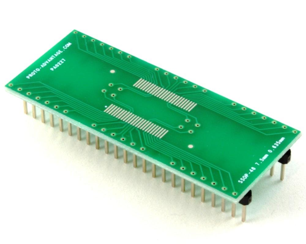 SSOP-48 to DIP-48 SMT Adapter (0.635 mm pitch, 7.5 mm body) 0