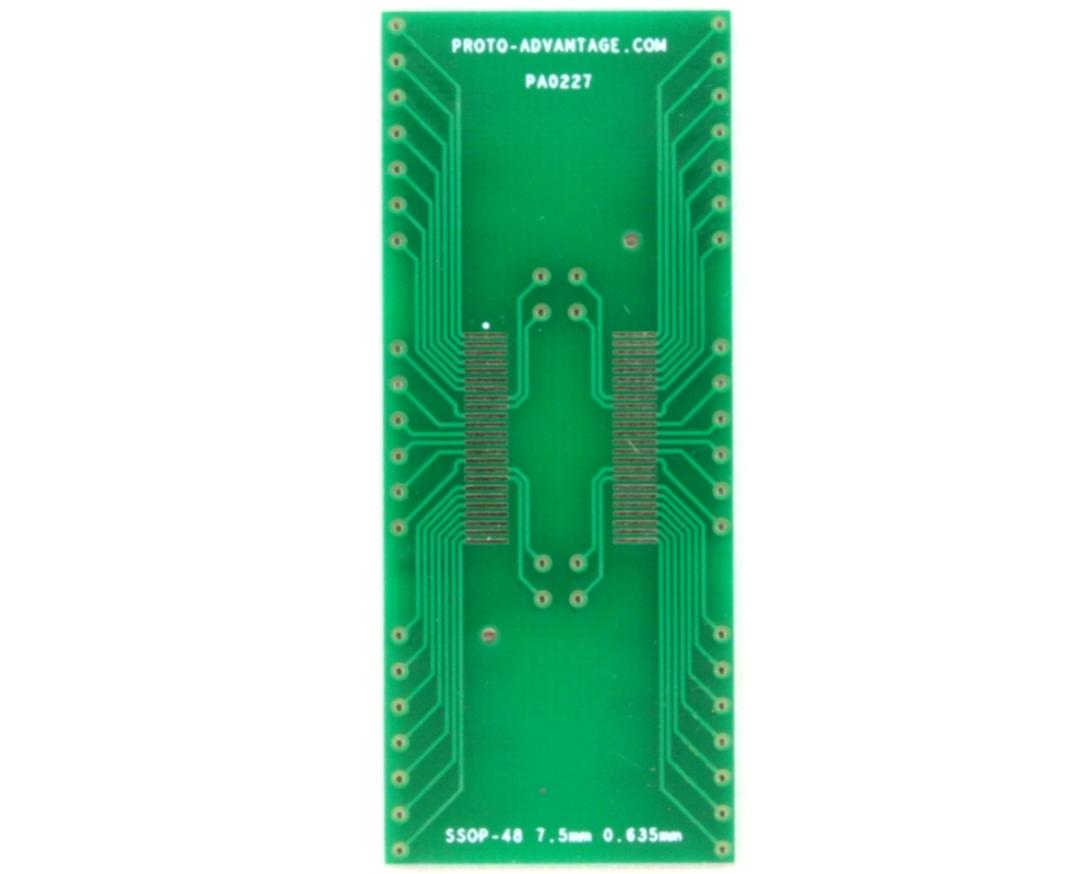 SSOP-48 to DIP-48 SMT Adapter (0.635 mm pitch, 7.5 mm body) 2