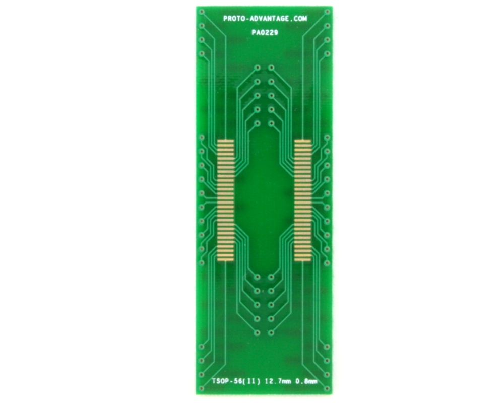 TSOP-56(II) to DIP-56 SMT Adapter (0.8 mm pitch, 12.7 mm body) 2