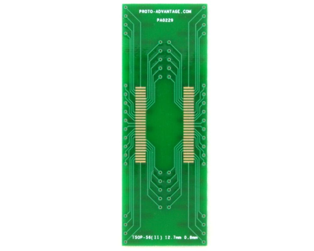 TSOP-56(II) to DIP-56 SMT Adapter (0.8 mm pitch, 12.7 mm body) 2