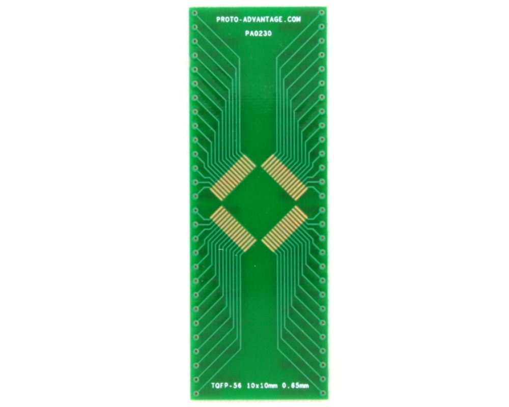 TQFP-56 to DIP-56 SMT Adapter (0.65 mm pitch, 10 x 10 mm body) 2