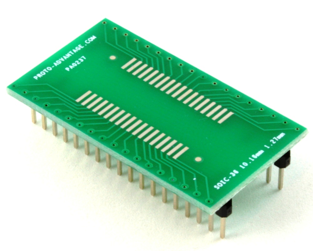 SOIC-36 to DIP-36 SMT Adapter (1.27 mm pitch, 10.16 mm body) 0
