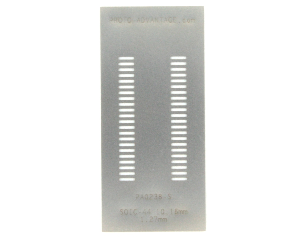 SOIC-44 (1.27 mm pitch, 10.16 mm body) Stainless Steel Stencil 0