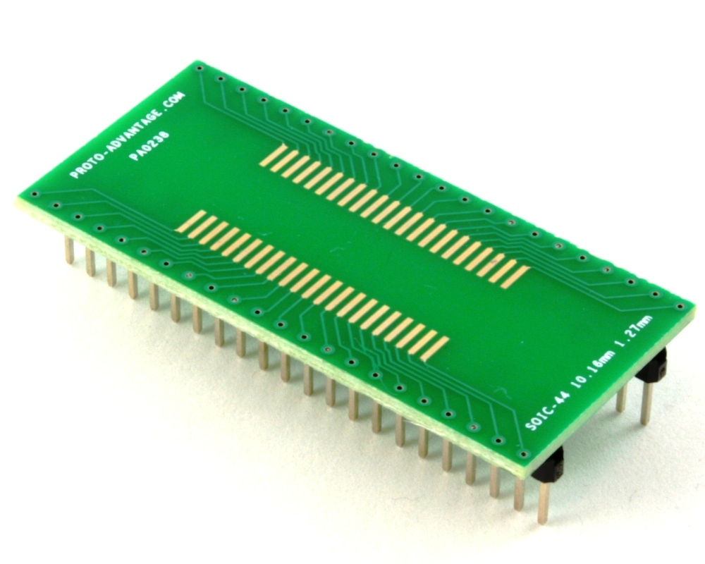 SOIC-44 to DIP-44 SMT Adapter (1.27 mm pitch, 10.16 mm body) 0