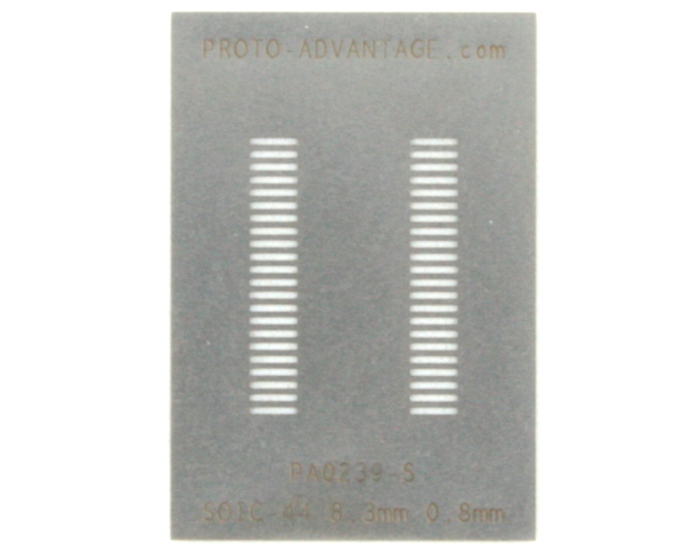 SOIC-44 (0.8 mm pitch, 8.3 mm body) Stainless Steel Stencil 0