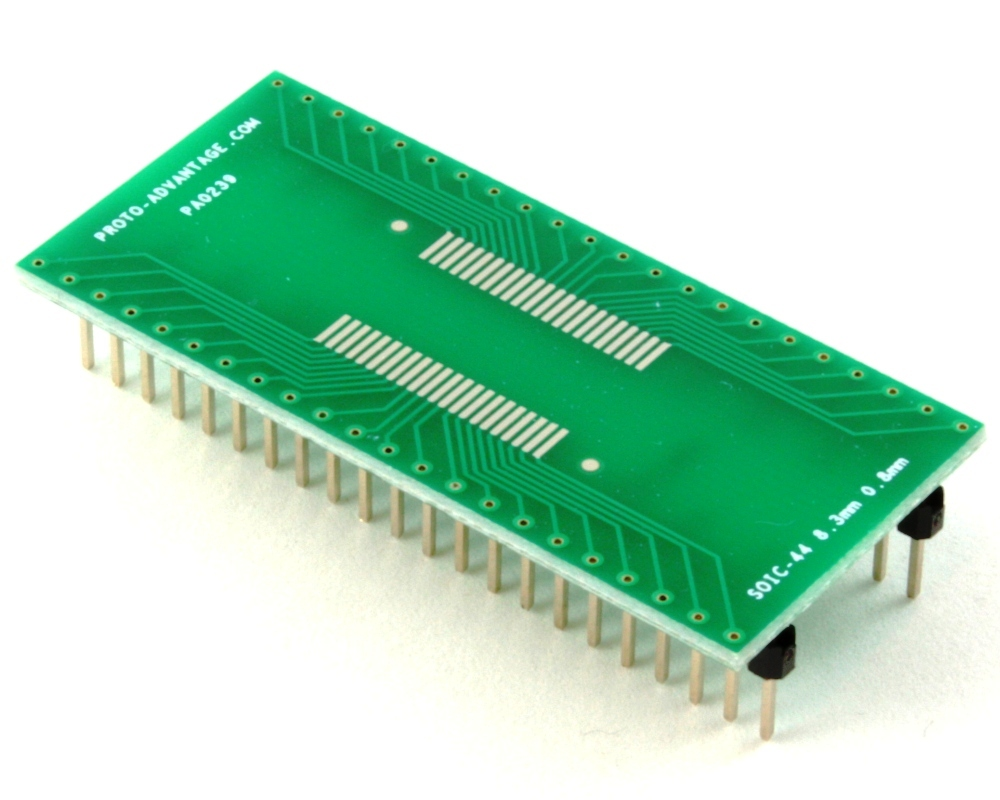 SOIC-44 to DIP-44 SMT Adapter (0.8 mm pitch, 8.3 mm body) 0