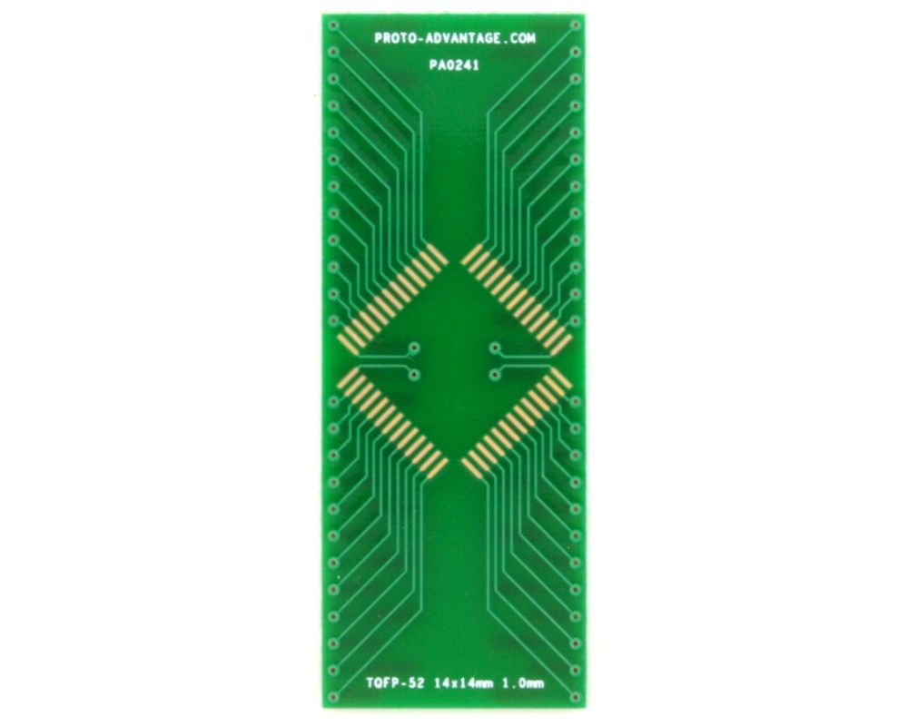 TQFP-52 to DIP-52 SMT Adapter (1.0 mm pitch, 14 x 14 mm body) 2