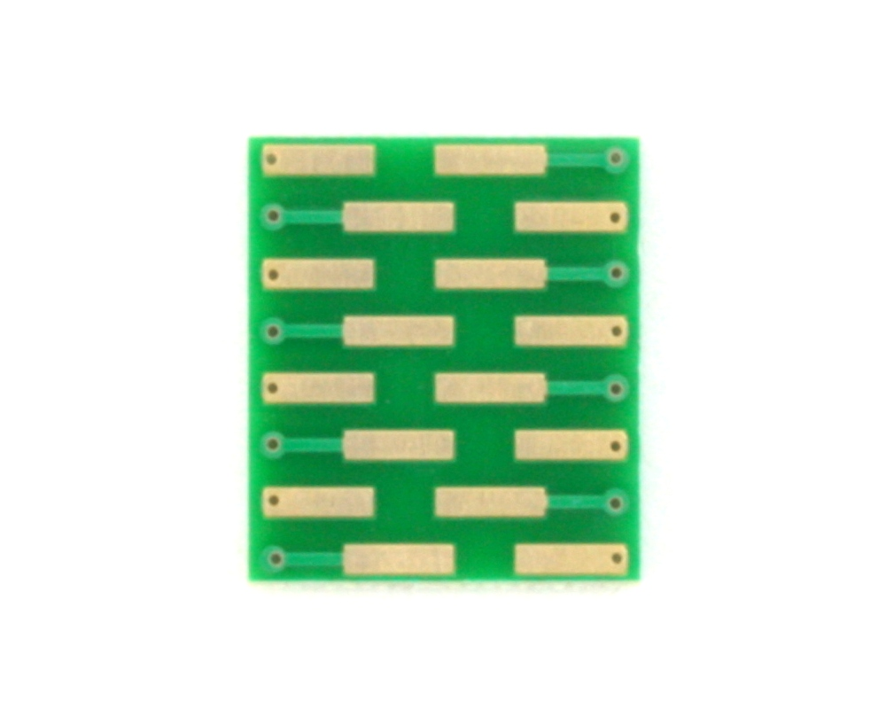 PLCC-16 to DIP-16 SMT Adapter (1.27 mm pitch, 7.4 x 7.4 mm body) 1