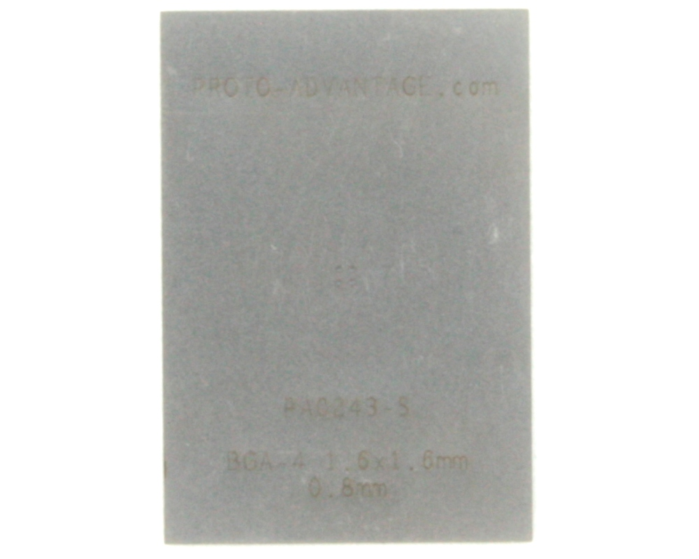 BGA-4 (0.8 mm pitch, 1.6 x 1.6 mm body) Stencil 0