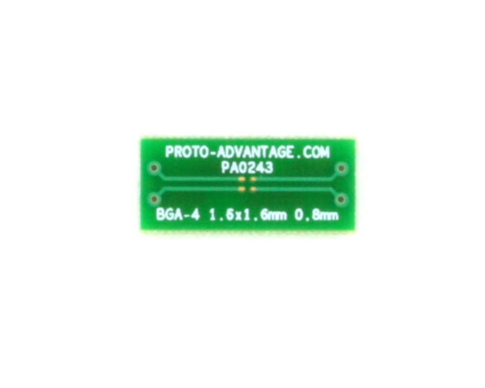 BGA-4 to DIP-4 SMT Adapter (0.8 mm pitch, 1.6 x 1.6 mm body) 2