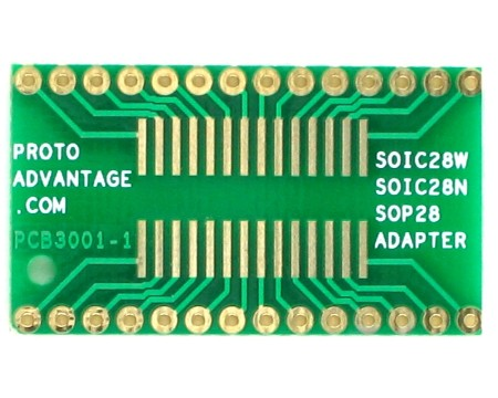 SOIC28W/N and SOP28 to DIP SMT Adapter 0