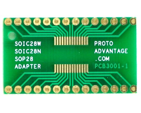 SOIC28W/N and SOP28 to DIP SMT Adapter 1