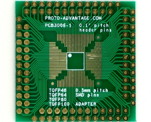 TQFP Adapter 0.5mm pitch 48 64 80 100 pin 0
