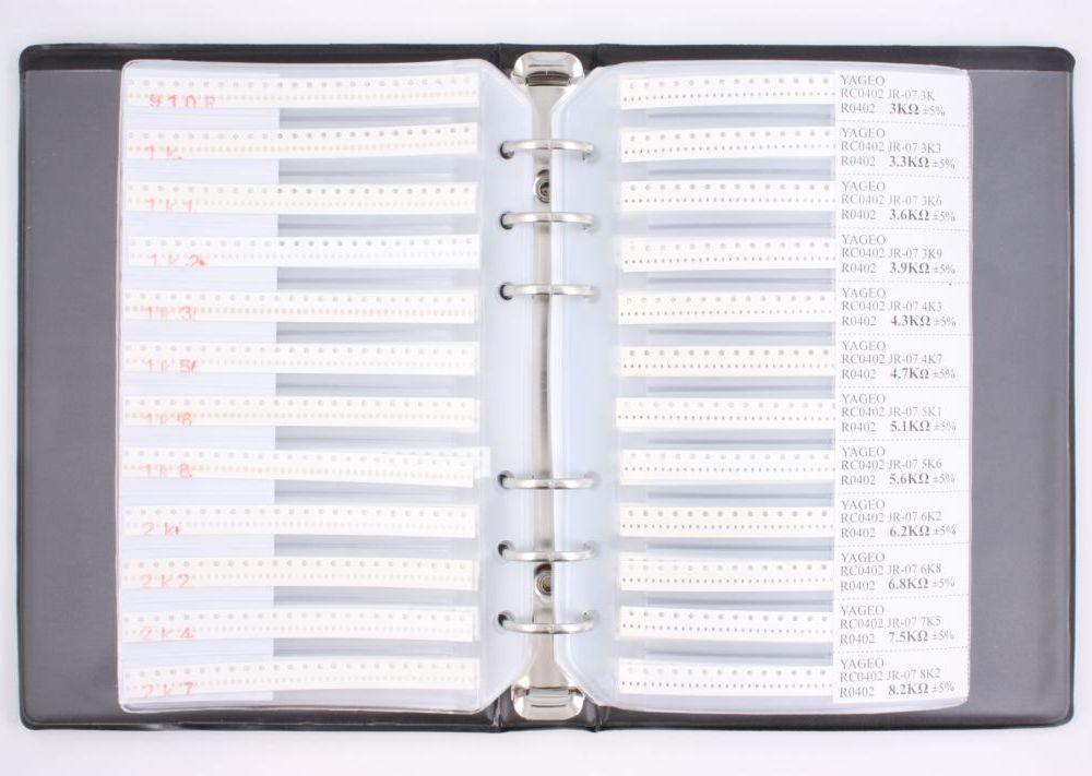 0402 Resistor Kit 170 values (8160 pieces) 0