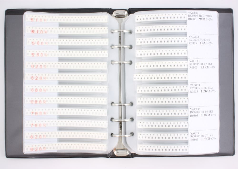 0805 Resistor Kit 177 values (8496 pieces) 0