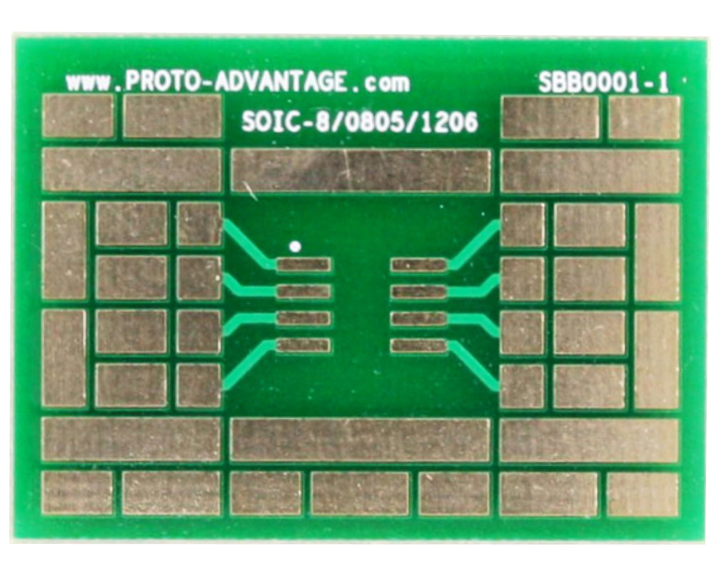 SOIC-8 with 0805, 1206 SMT Adapter Breadboard 0