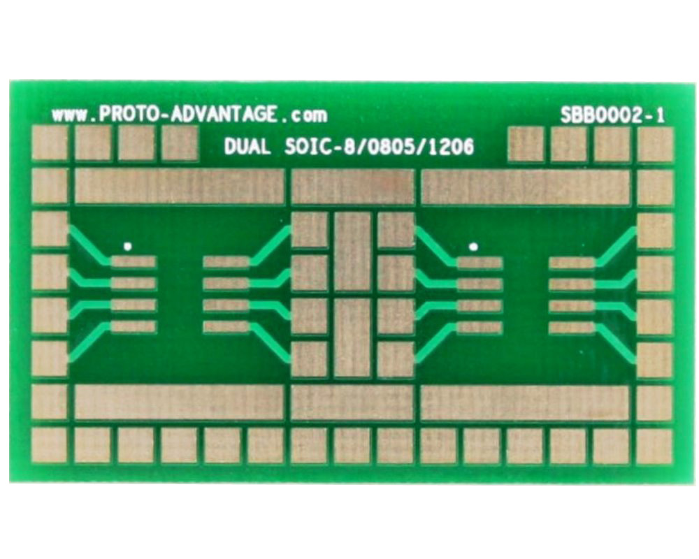 SOIC-8 with 0805, 1206 SMT Adapter Breadboard - Large 0