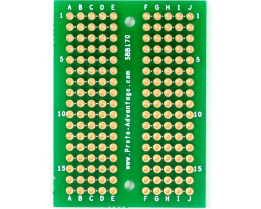 170 pts solder-in breadboard (Exact Solderless Match) 0