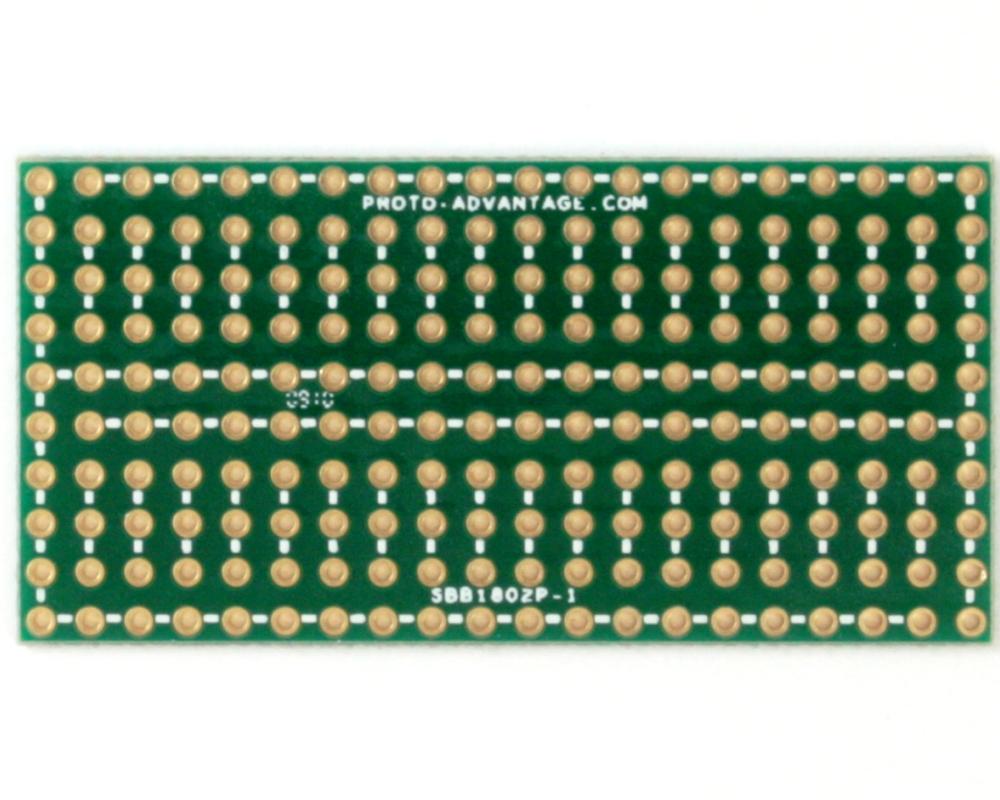 Solder-in breadboard 1x2