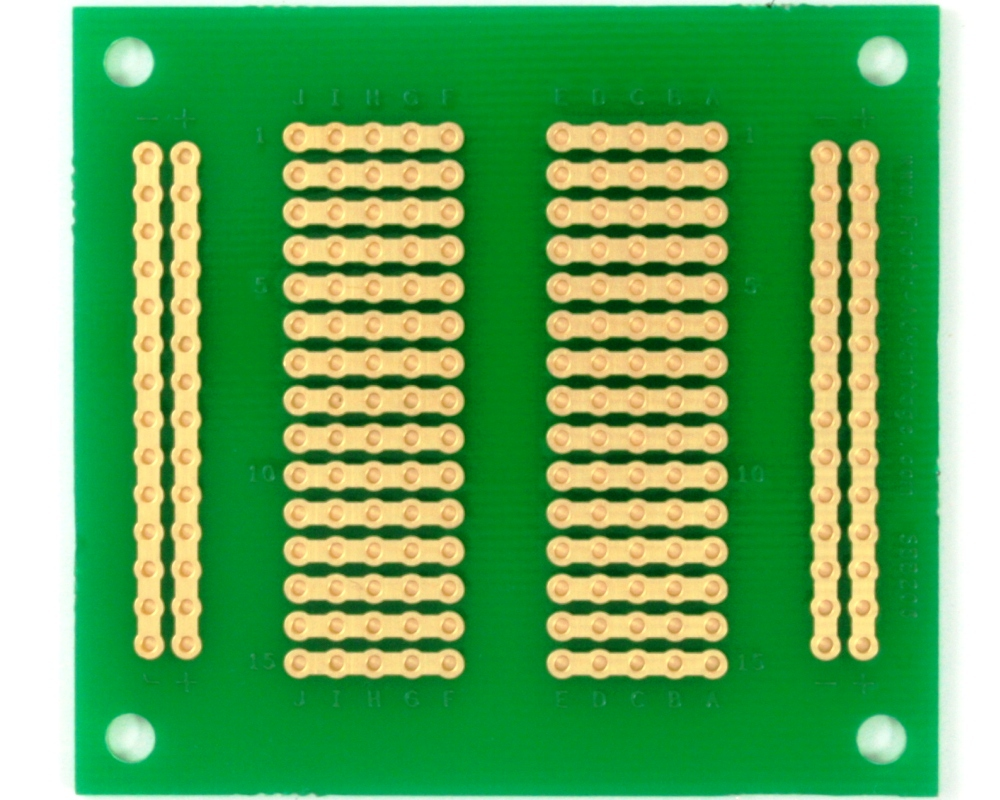 206 pts solder-in breadboard (Exact Solderless Match) 1
