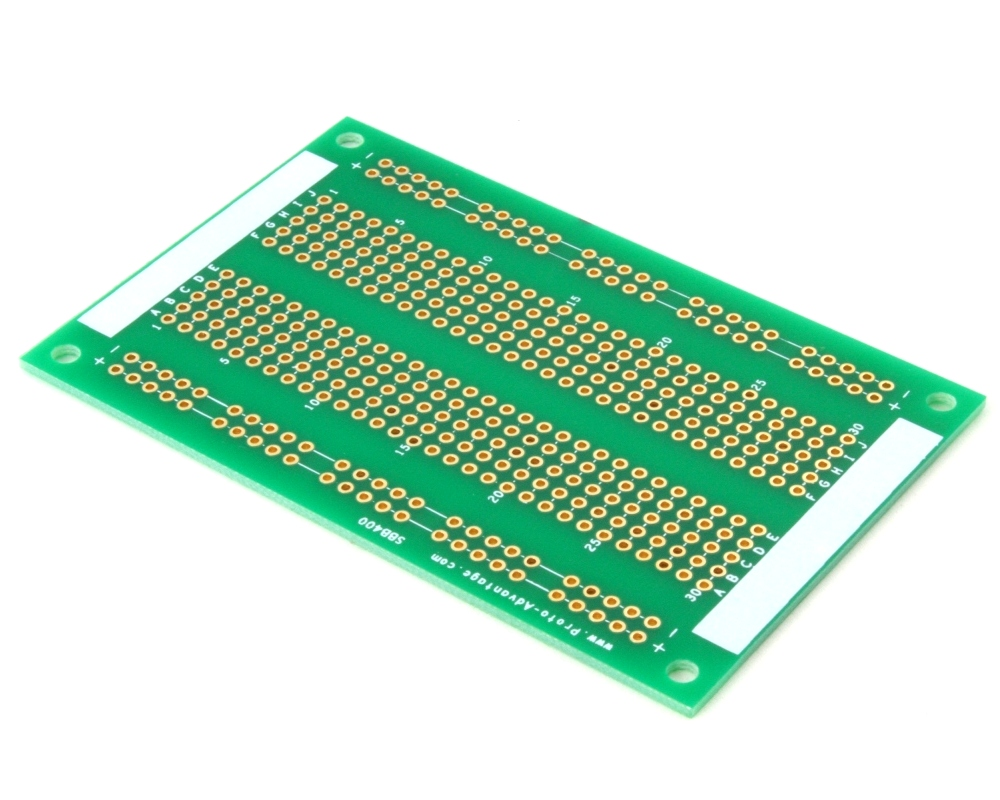 400 pts solder-in breadboard (Exact Solderless Match) 0