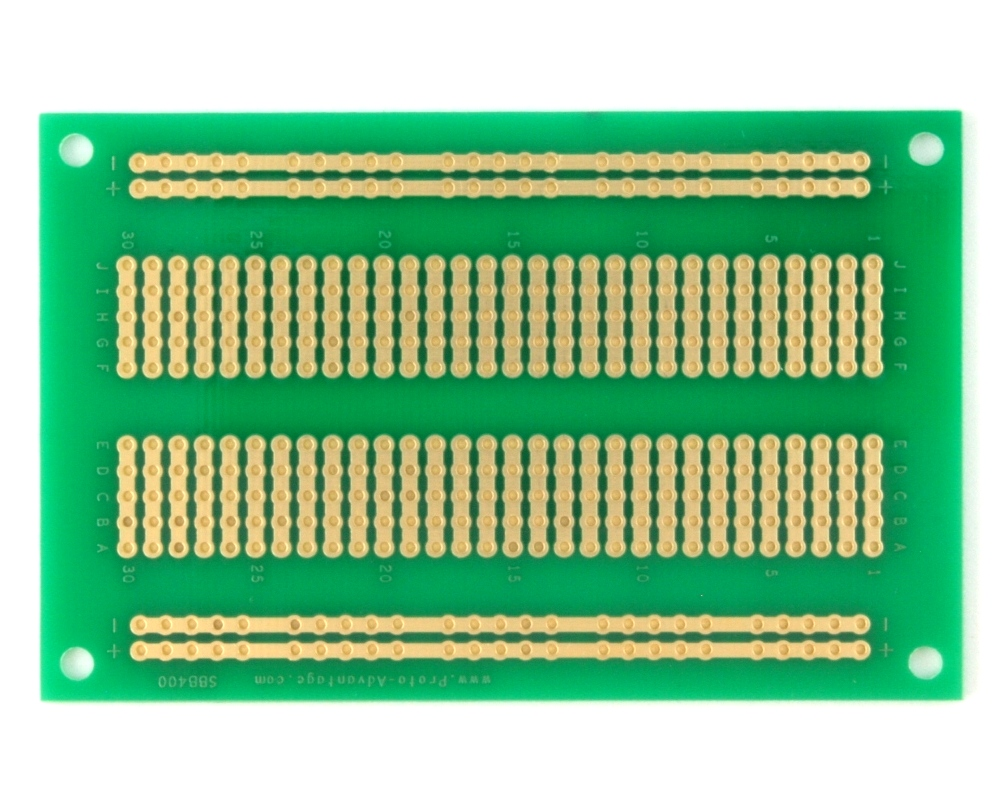 400 pts solder-in breadboard (Exact Solderless Match) 1