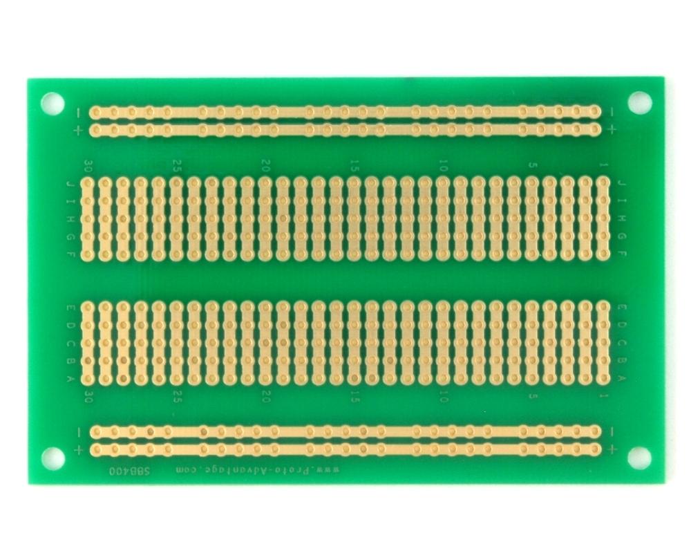 400 pts solder-in breadboard (Exact Solderless Match) 1