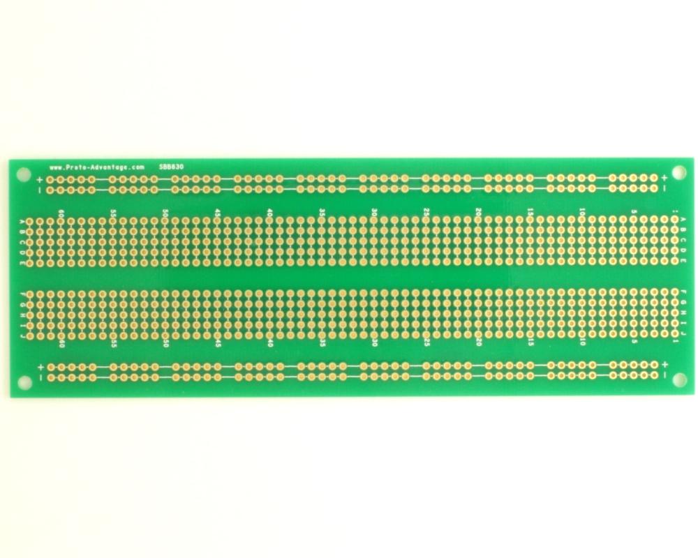830 pts solder-in breadboard 0