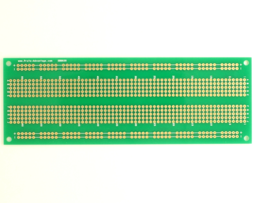 830 pts solder-in breadboard 0