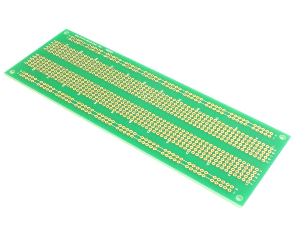 830 pts solder-in breadboard (Exact Solderless Match) 0