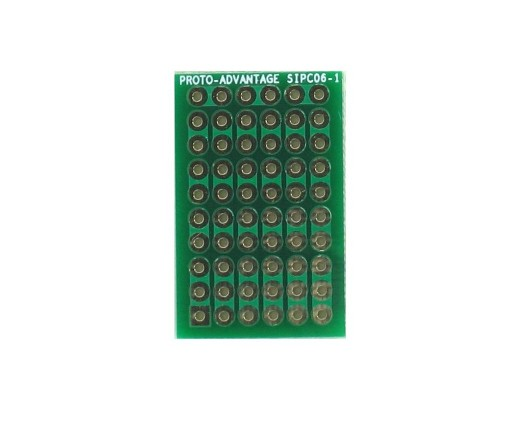 High Density General Purpose SIP Adapter -  6 pin 0