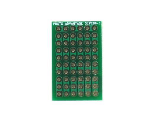 High Density General Purpose SIP Adapter -  6 pin 0