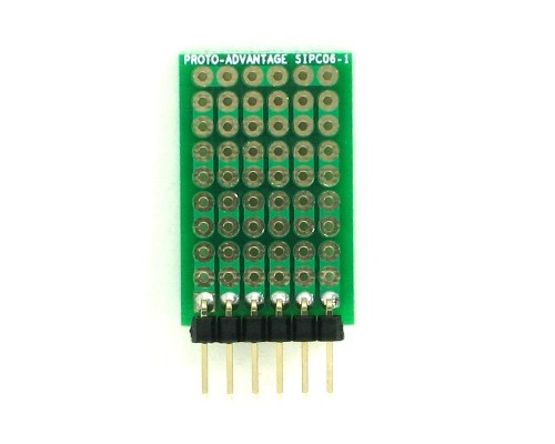 High Density General Purpose SIP Adapter -  6 pin 1