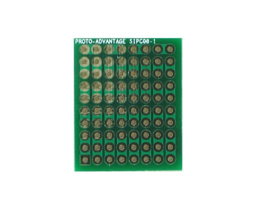 High Density General Purpose SIP Adapter -  8 pin 0