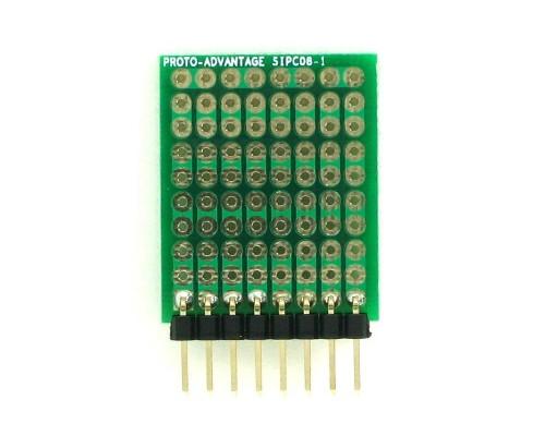 High Density General Purpose SIP Adapter -  8 pin 1