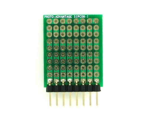 High Density General Purpose SIP Adapter -  8 pin 1