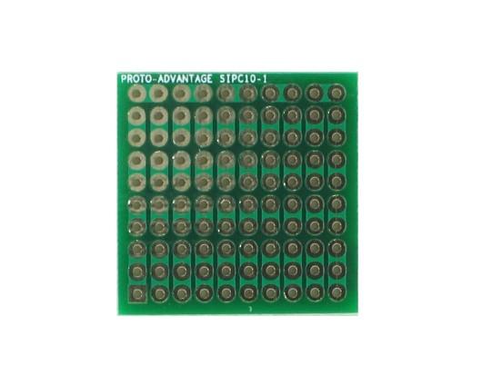 High Density General Purpose SIP Adapter - 10 pin 0