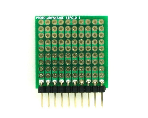 High Density General Purpose SIP Adapter - 10 pin 1