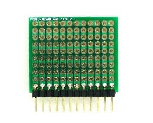 High Density General Purpose SIP Adapter - 12 pin 1