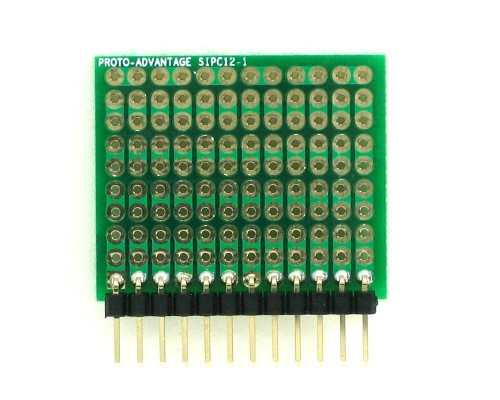 High Density General Purpose SIP Adapter - 12 pin 1