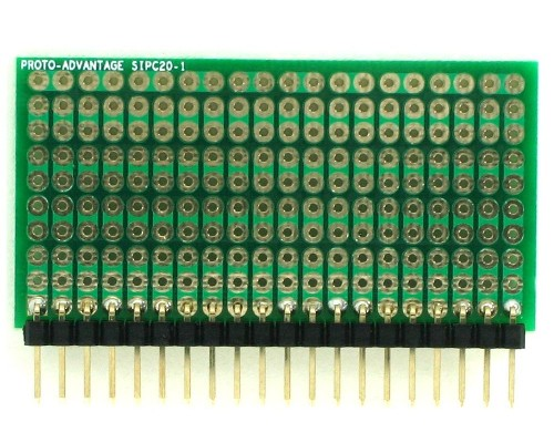 High Density General Purpose SIP Adapter - 20 pin 1