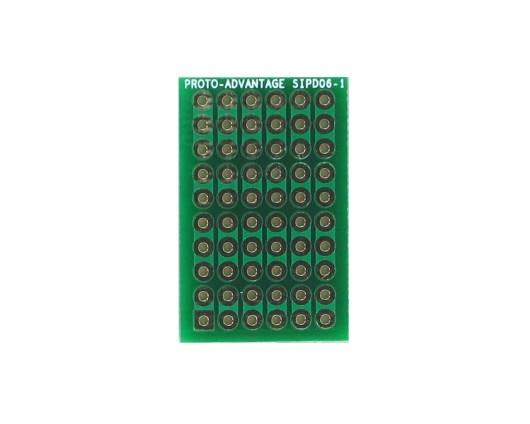 DIP IC (300 mil) to SIP Adapter -  6 pin 0