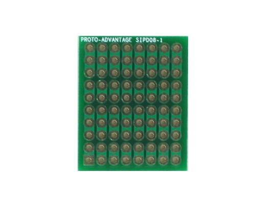 DIP IC (300 mil) to SIP Adapter -  8 pin 0