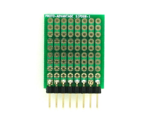 DIP IC (300 mil) to SIP Adapter -  8 pin 1