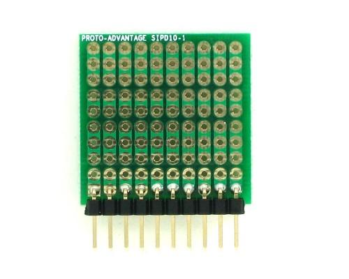 DIP IC (300 mil) to SIP Adapter - 10 pin 1